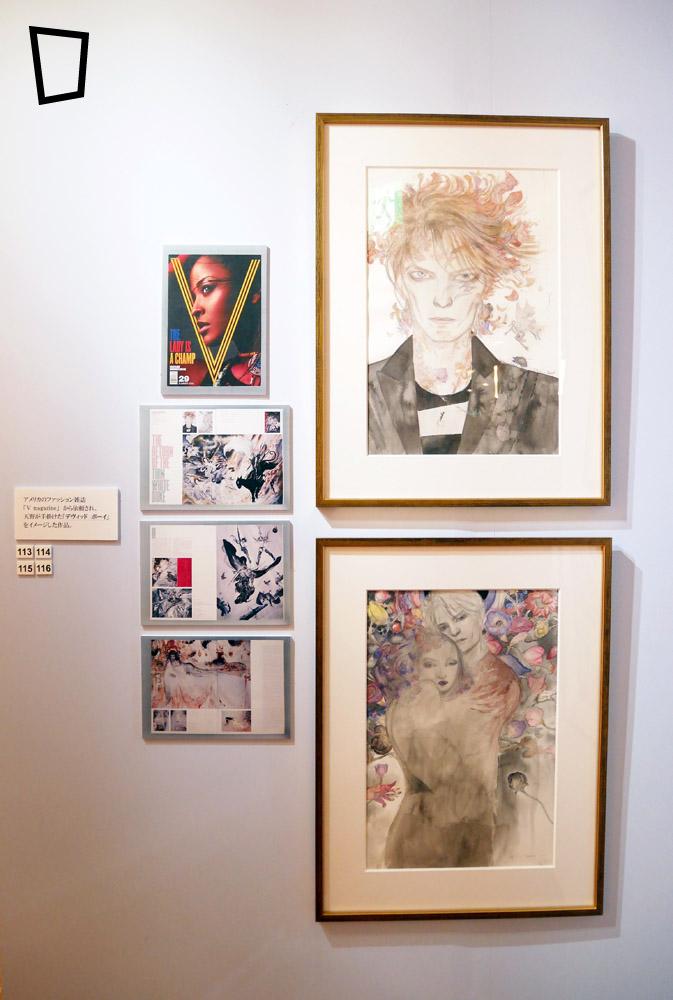 大叔受美國時裝雜誌 《V magazine》委託創作的一系列 David Bowie 的插畫。