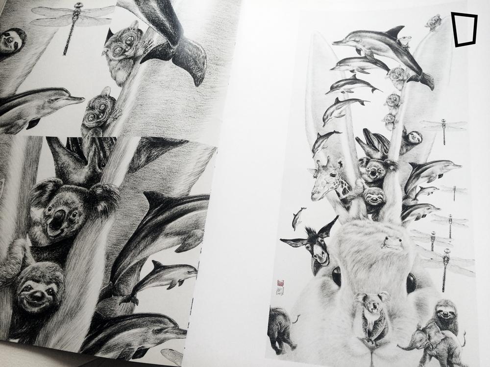 曾志威於《雙頭人》展覽中的畫作。
